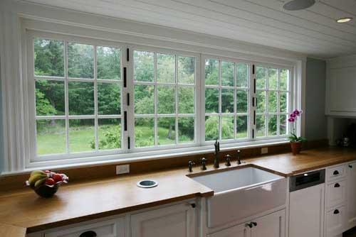 Desain Interior Dekorasi Dapur Kabinet Dinding Dan Jendela