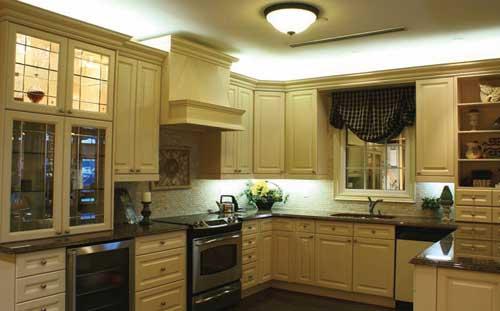 interior desain - tata pencahayaan dapur