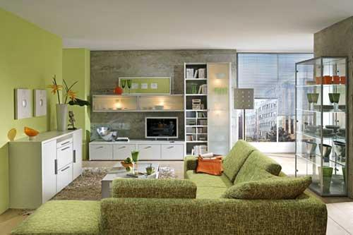 desain interior perangkat furnitur untuk ruang tamu