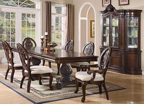 desain interior set furnitur ruang makan