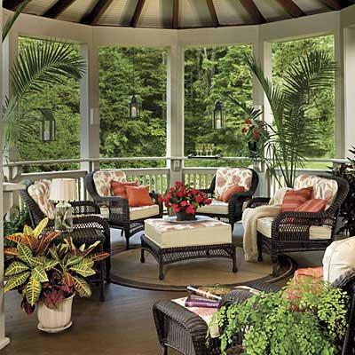 desain interior teras rumah