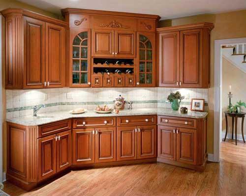 Dekorasi Dapur Kabinet Dinding Dan Jendela